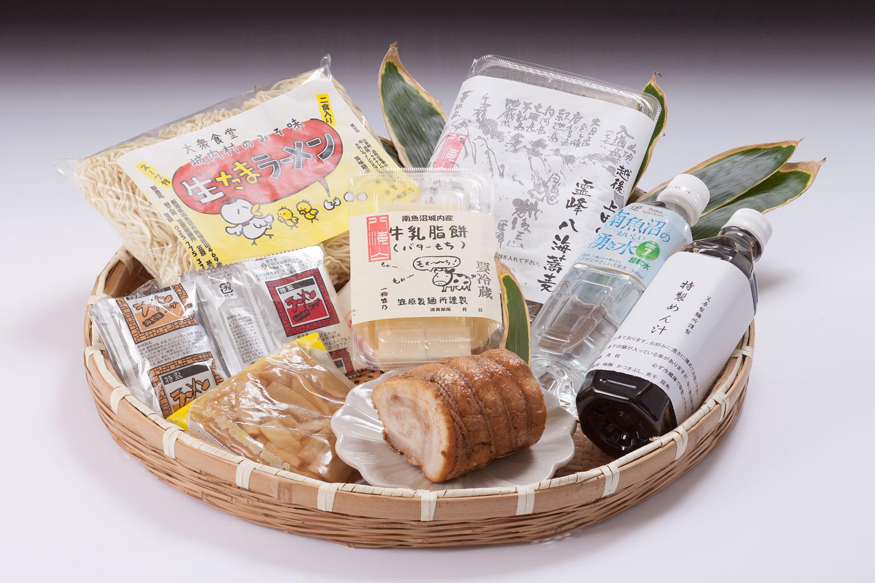 八海蕎麦&生たまラーメン&バターもちセット